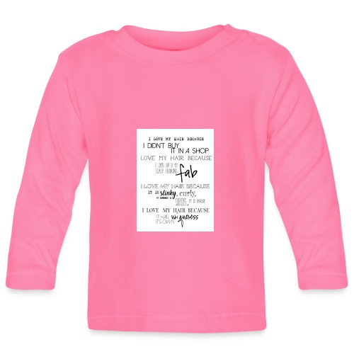 I LOVE MY HAIR - Baby Long Sleeve T-Shirt