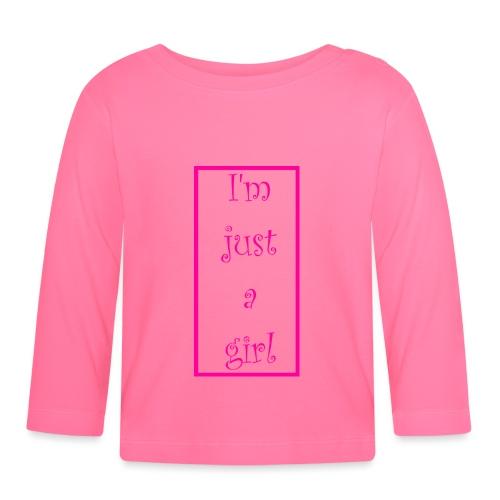 I' m just a girl #1 - Baby Langarmshirt