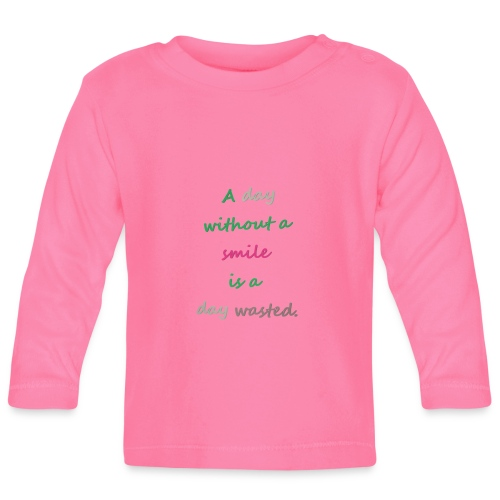 Say in English with effect - Baby Long Sleeve T-Shirt