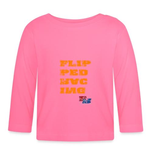 Flipped Racing, Orange - Baby Long Sleeve T-Shirt