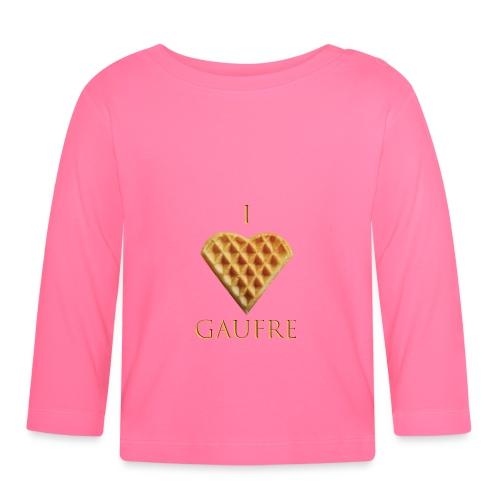 i love gaufre - T-shirt manches longues Bébé