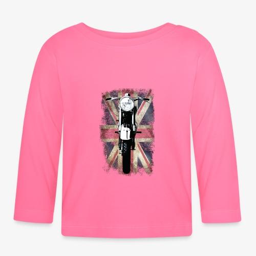 Vintage Motor Cycle BSA feature patjila - Baby Long Sleeve T-Shirt