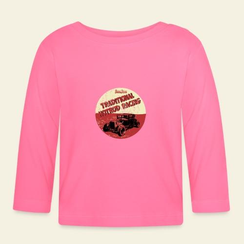 hotrod racing logo - Langærmet babyshirt