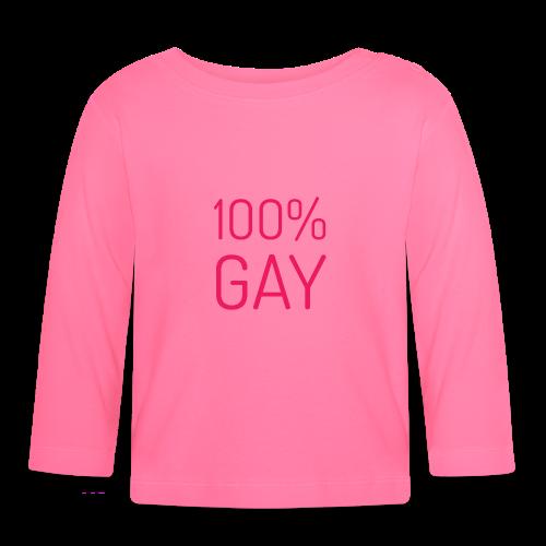 100% Gay in roze - T-shirt