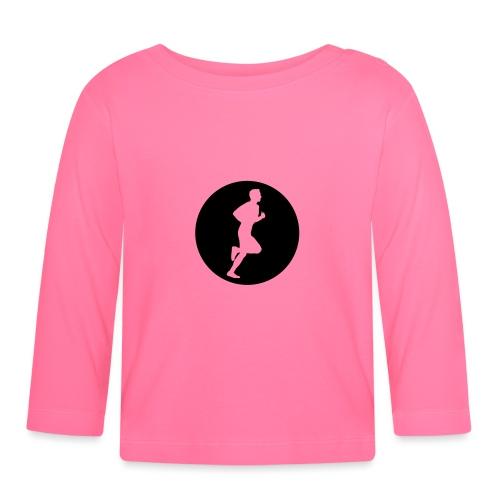 Sportlershirt Logo mono - Baby Langarmshirt