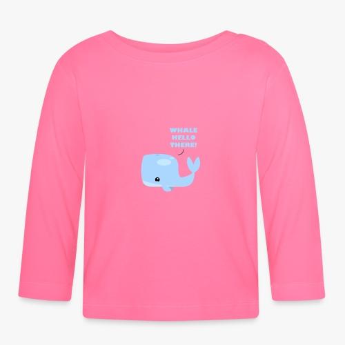 Whale Hello There - Langærmet babyshirt