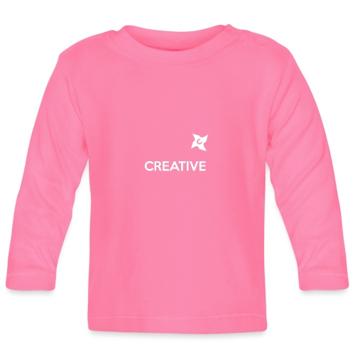 Creative simple black and white shirt - Langærmet babyshirt