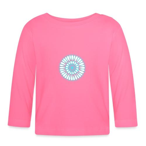 Ice Sunflower Mandala - Baby Long Sleeve T-Shirt