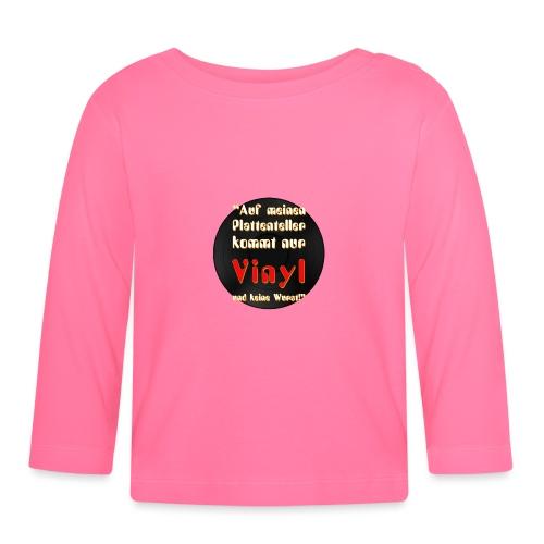 plattenteller mit Vinyl - ohne Wurst - Baby Langarmshirt