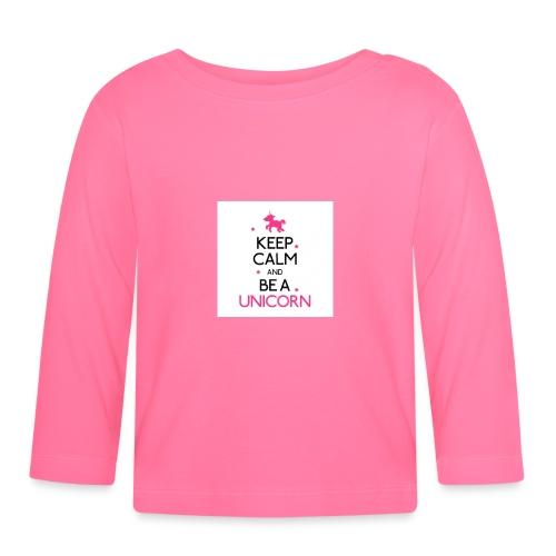 16050478-width-250-height-250-keep-calm-and-be-a-u - Maglietta a manica lunga per bambini