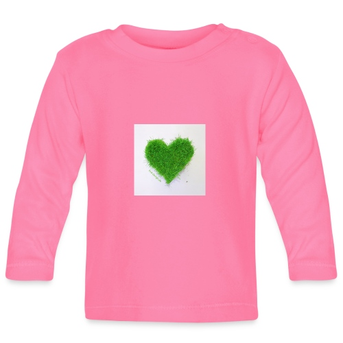Herzrasen Button - Baby Langarmshirt