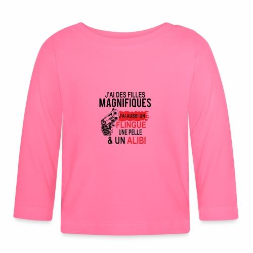 J'AI DEUX FILLES MAGNIFIQUES Best t-shirts 25% - T-shirt manches longues Bébé