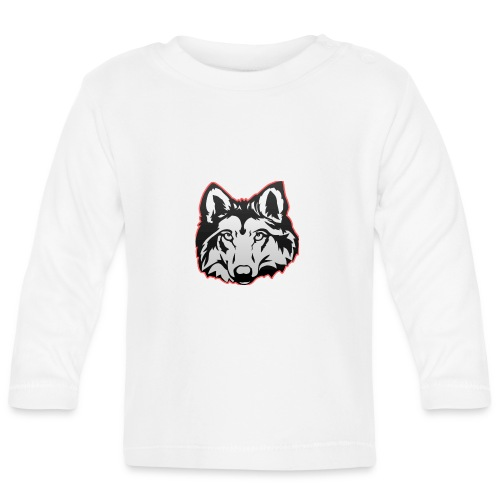 Wolfie (Red) - Baby Long Sleeve T-Shirt