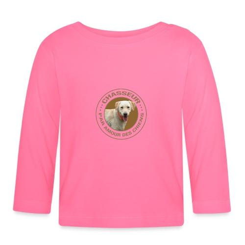 Chasseur par amour des chiens ! - T-shirt manches longues Bébé