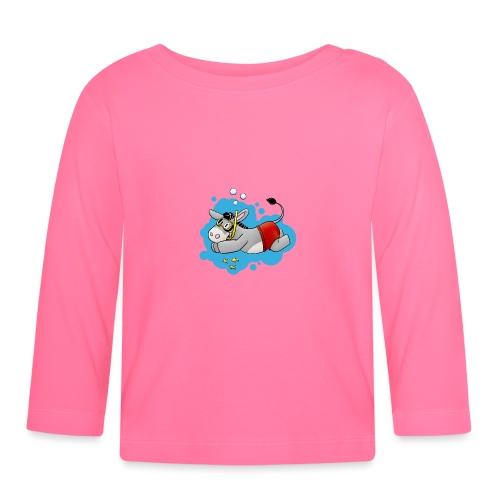 Esel - Kuschelesel geht schwimmen - Baby Langarmshirt