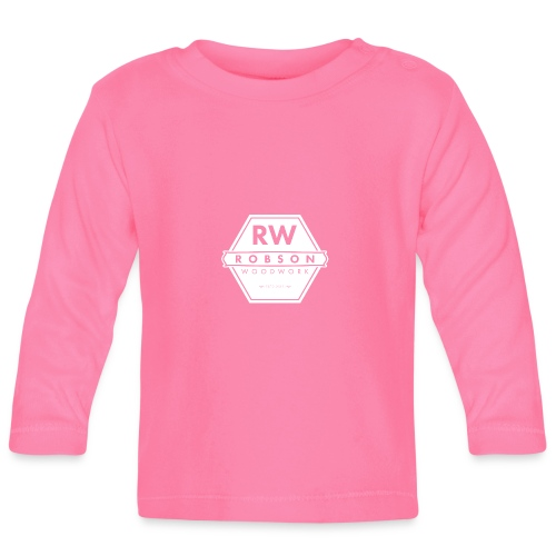 RW Logo In White - Baby Long Sleeve T-Shirt