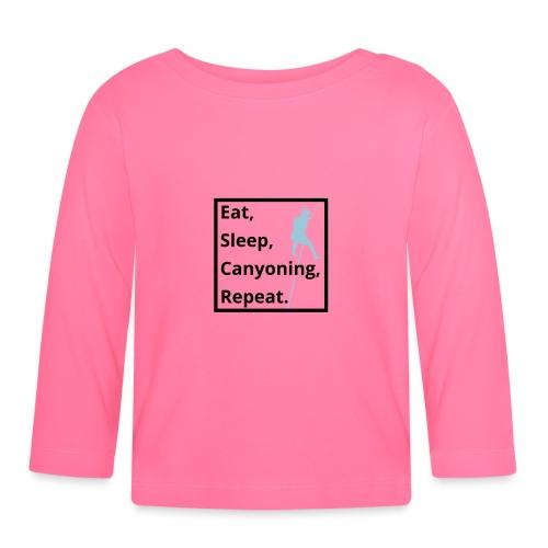 eat sleep canyoning repeat - Baby Langarmshirt