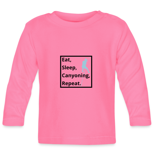 eat sleep canyoning repeat - Baby Langarmshirt
