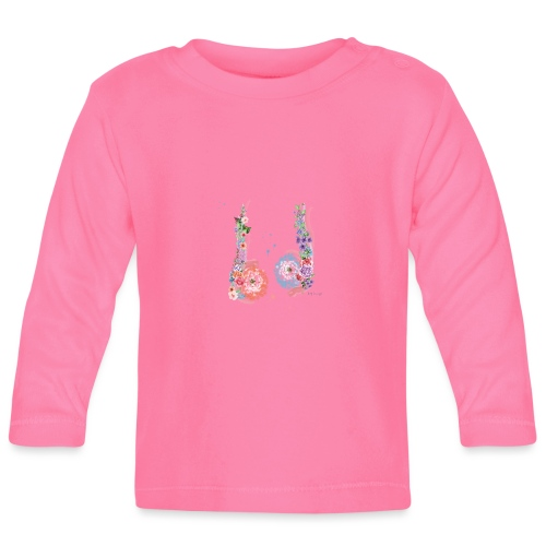 Blumen Hoden - Baby Langarmshirt