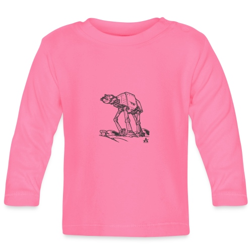 AT AT Walker ligne d'esquisse - T-shirt manches longues Bébé