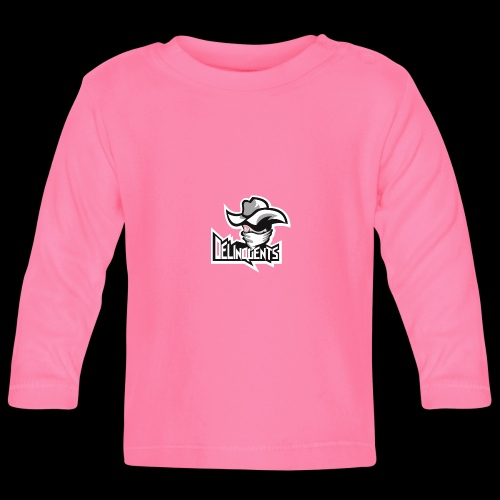 Delinquents Sort Design - Langærmet babyshirt