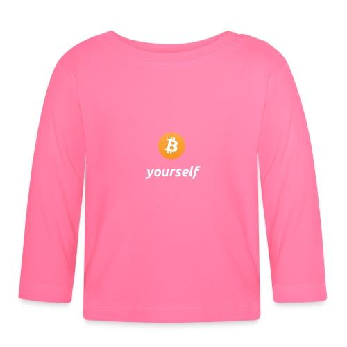 cryptocool b yourself white font -bitcoin logo - T-shirt