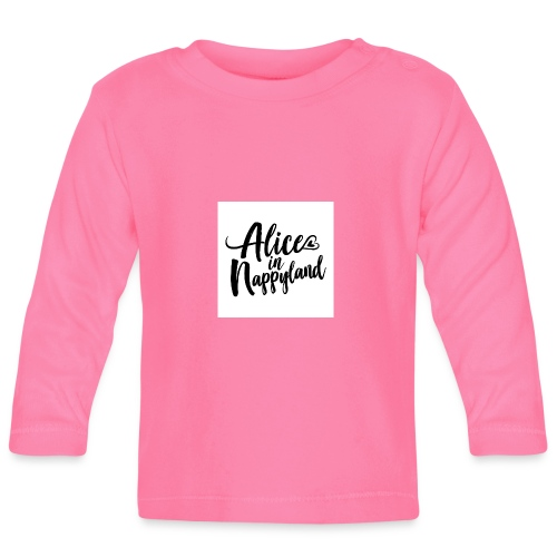 Alice in Nappyland Typography Black 1080 1 - Baby Long Sleeve T-Shirt