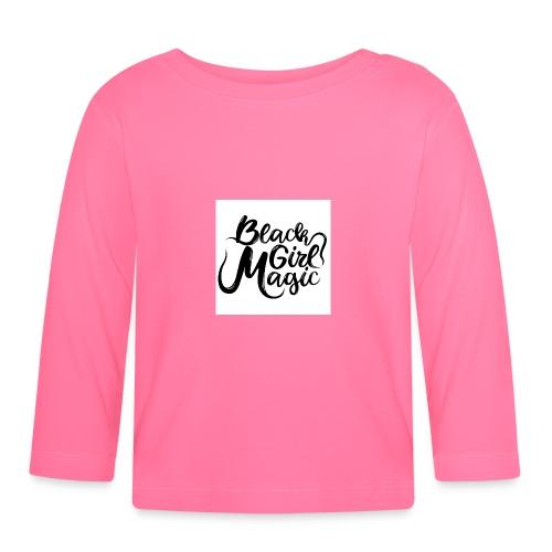 Black Girl Magic 1 Black Text - Baby Long Sleeve T-Shirt