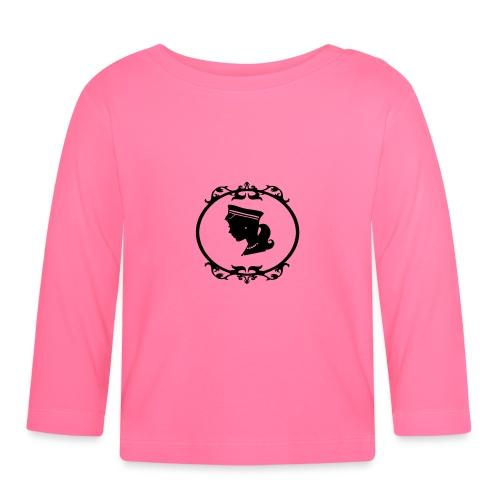 Mädel oval 1 farbig - Baby Langarmshirt