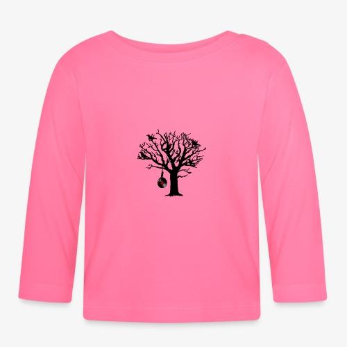 Musical Birds in Tree 1 rot - Baby Langarmshirt