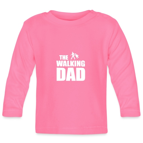 the walking dad weiss auf dem Weg in die lustige - Baby Langarmshirt