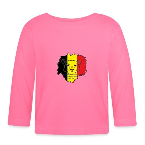 Lion supporter Belgique - T-shirt manches longues Bébé