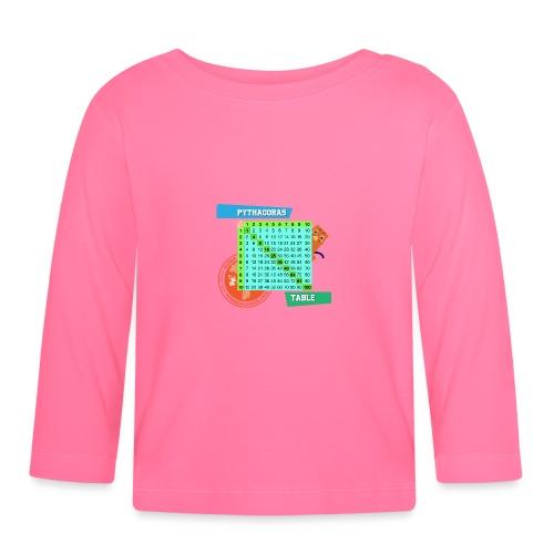 Pythagoras table - Langarmet baby-T-skjorte
