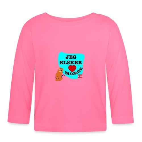 Jeg elsker Norge - Langarmet baby-T-skjorte