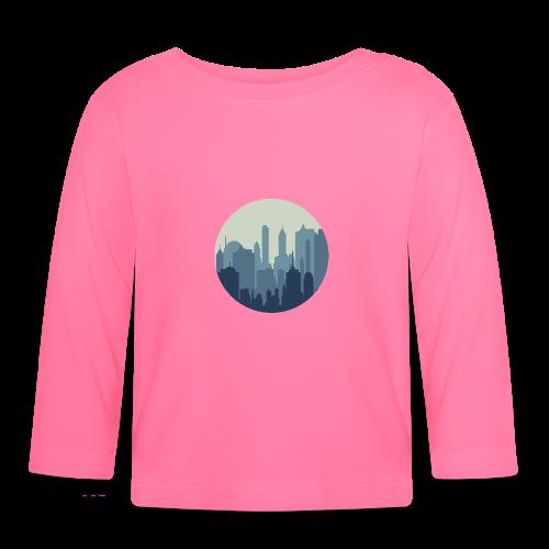 Stadt | Skyline Wolkenkratzer Hochhaus - Baby Langarmshirt