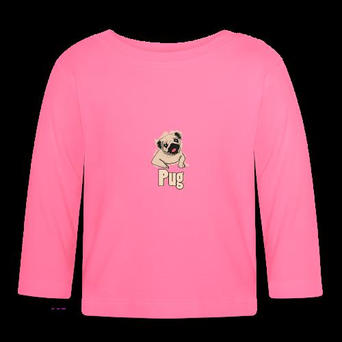 Mops | süß Hund Welpe - Baby Langarmshirt