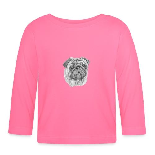 Pug - mops 1 - Langærmet babyshirt
