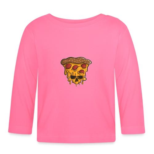 Zombie Halloween Pizza Skull - Baby Langarmshirt