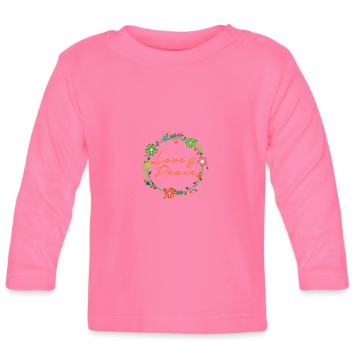 Love and Peace - Baby Long Sleeve T-Shirt