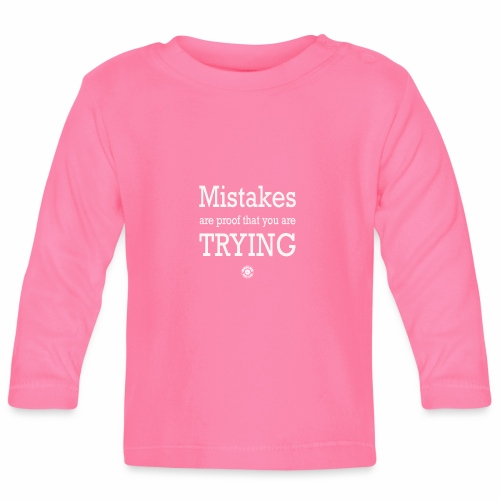 MISTAKES are not a WRONG WAY - Maglietta a manica lunga per bambini