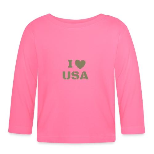 I HEART USA, I LOVE USA - Koszulka niemowlęca z długim rękawem