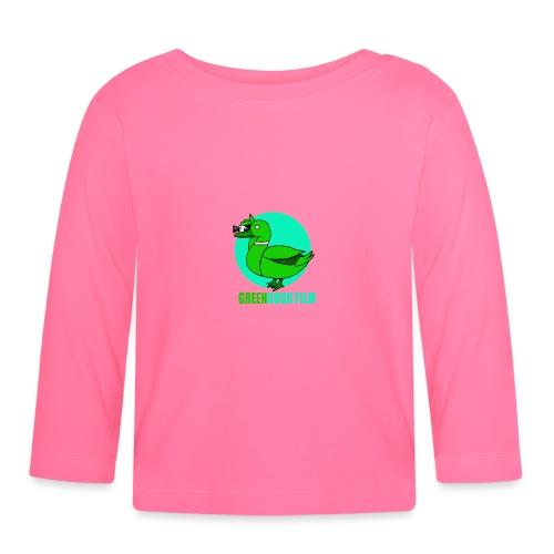 Greenduck Film Turkis blue sun Logo - Langærmet babyshirt