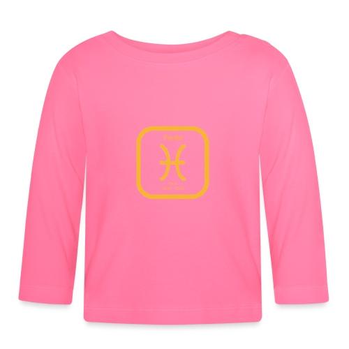Horoskop fish12 - Koszulka niemowlęca z długim rękawem