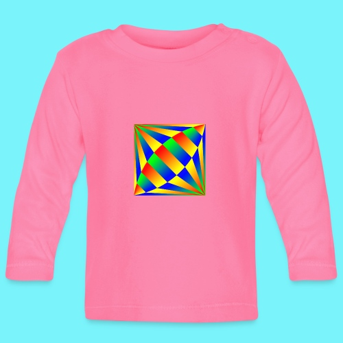 Giant cufflink design in blue, green, red, yellow. - Baby Long Sleeve T-Shirt