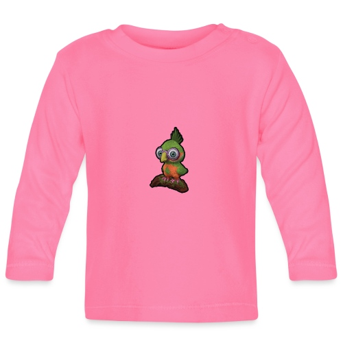 A bird sitting on a branch - Baby Long Sleeve T-Shirt