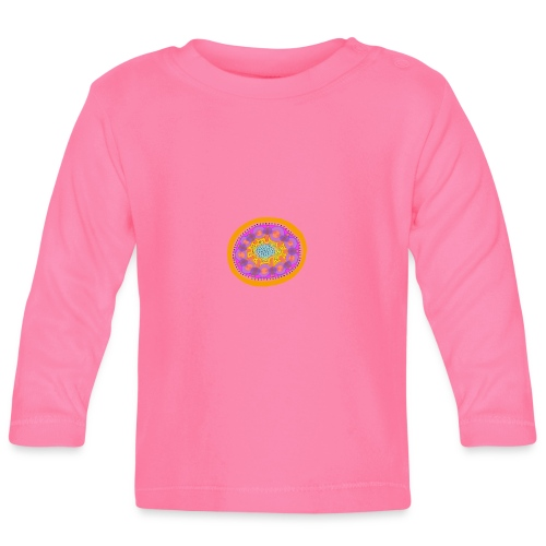 Mandala Pizza - Baby Long Sleeve T-Shirt