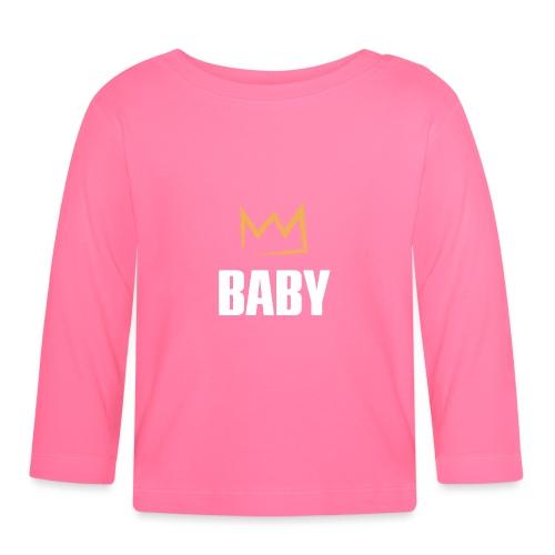 Baby mit Krone - Baby Langarmshirt