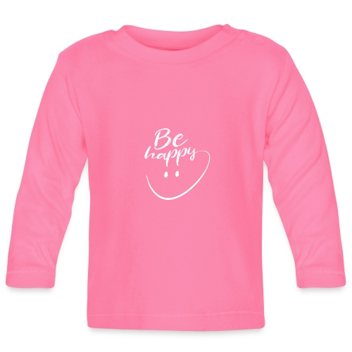 Be Happy With Hand Drawn Smile - Baby Long Sleeve T-Shirt