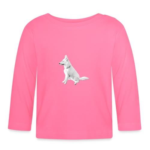 Daron White Dog - Koszulka niemowlęca z długim rękawem