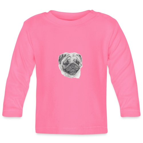 Pug mops 2 - Langærmet babyshirt